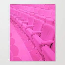 Pink Theater Seats in Palm Springs Canvas Print
