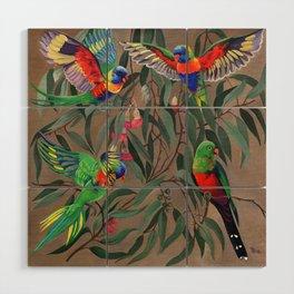 Birds of Paradise. Wood Wall Art