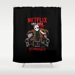 Jason voorhees netflix and chill kill ice nine kills halloween Shower Curtain
