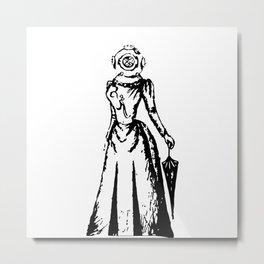 Diver's Helmet Dame  Metal Print