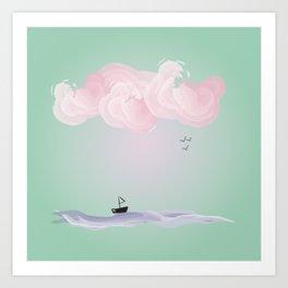Pink Candy Cloud Art Print