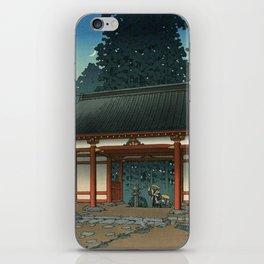 Starry Night at Temple, Ukiyo-e iPhone Skin
