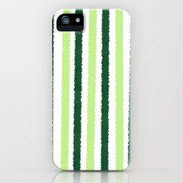 Green Color Stripes iPhone Case