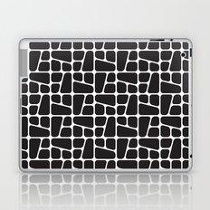 Mid Century BW tile pattern Laptop & iPad Skin