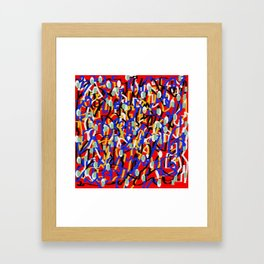 Abstract laberinto red blue Framed Art Print