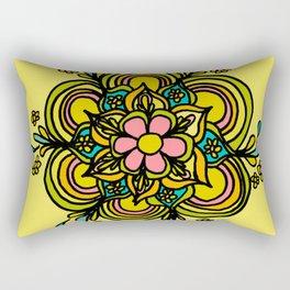 Flower Power Mandala Positive Vibes Flow Freely Rectangular Pillow