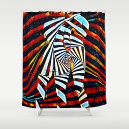 6805-LB Two Become as One Love Energy Abstraction Shower Curtain