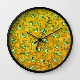 Frog Festival Wall Clock