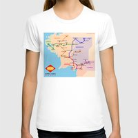 middle earth T-shirts featuring Middle-Earth metro map by tuditees