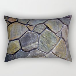 Stone Mosaic Wall Rectangular Pillow