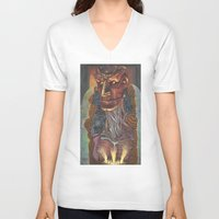 ghost in the shell V-neck T-shirts featuring Ghost In the Shell by Haslin