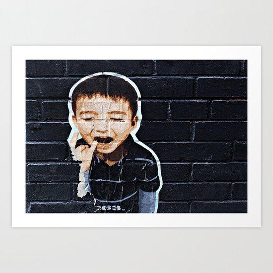Paper Boy  Art Print