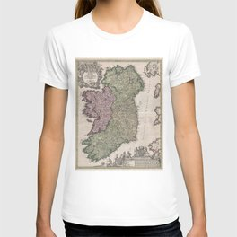 Vintage Map of Ireland (1716)  T-shirt