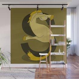 Monogram S Pony Wall Mural