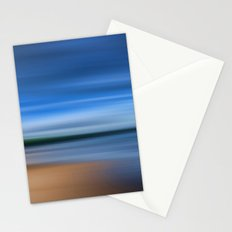 Beach Blur Painted Effect Stationery Cards