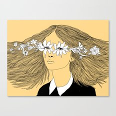 Flowers in My Eyes (Life in a Glimpse) Canvas Print