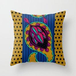 Blue Paisley Throw Pillow