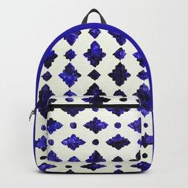 1 - Royal Blue Traditional Moroccan Arabic Geometric Artwork - S6.com/Arteresting Backpack