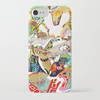 dangan ronpa iPhone & iPod Cases featuring attack on ronpa by ESCL