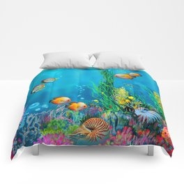 Undersea with Nautilus Comforters