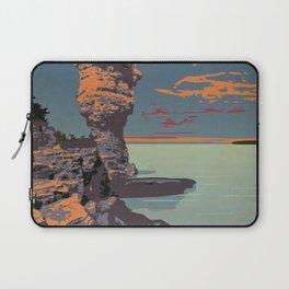 Fathom Five National Park Poster (Flowerpot Island) Laptop Sleeve