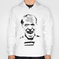 bukowski Hoodies featuring Charles Bukowski Quote Crowd by Fligo