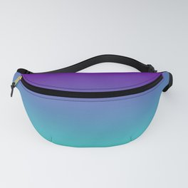 Violet Purple and Turquoise Ombre Fanny Pack
