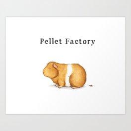 Pellet Factory - Guinea Pig Poop Art Print