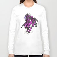 the neighbourhood Long Sleeve T-shirts featuring Just Your Friendly Neighbourhood Cyborg Alien by Skylab
