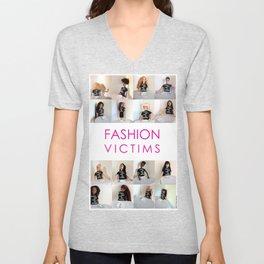 Fashion Victims Poster - alternate format Unisex V-Neck