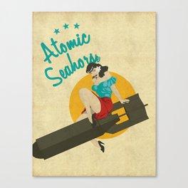 Atomic Seahorse Canvas Print