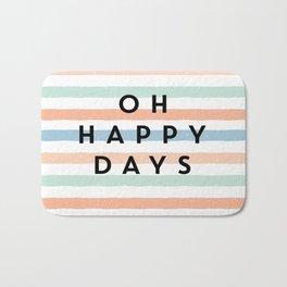 Striped Happy Days Bath Mat