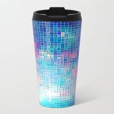 Colorful Abstract Pixels Travel Mug