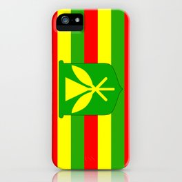 Kanaka Maoli Flag iPhone Case