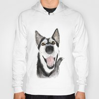 husky Hoodies featuring husky by Lupita Lopez