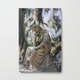 Bonaventure Cemetery - Statue of Eliza Wilhelmina Theus Metal Print