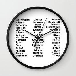 List of Presidents Wall Clock