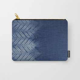 Shibori Chevron Stripe Carry-All Pouch