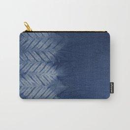 Shibori Chevron Stripe Carry-All Pouch