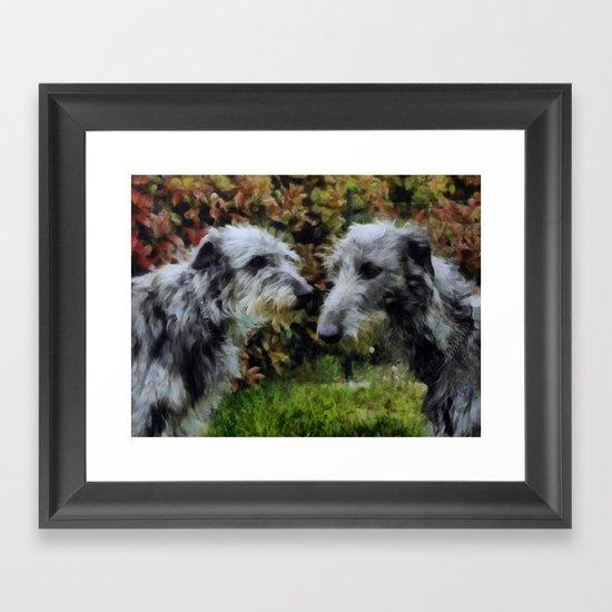 scottish deerhounds Framed Art Print