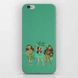 Luau Girls on Mint iPhone Skin