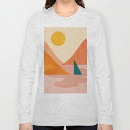 Abstraction_Lake_Sunset Long Sleeve T-shirt