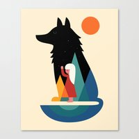 best friend Canvas Prints featuring Best Friend by Andy Westface