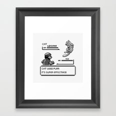 It's Super Effective Cat Framed Art Print