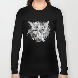 Kitty's Pretty Floral Mane Long Sleeve T-shirt