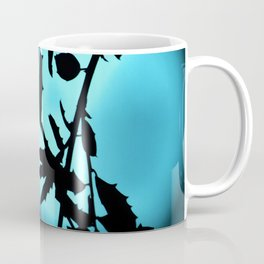 Heavenly Vines in Teal Coffee Mug