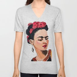 Frida Unisex V-Neck