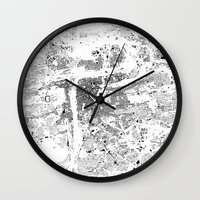 prague Wall Clocks featuring PRAGUE by Maps Factory