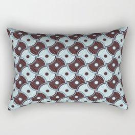 Brawn blue pattern 5 Rectangular Pillow