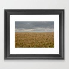 A storm brewing Framed Art Print